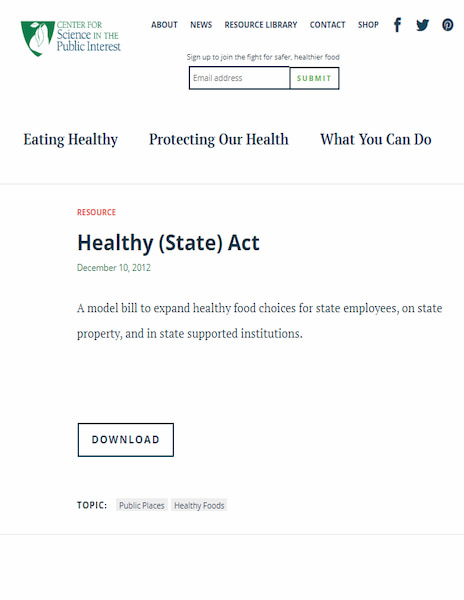 Healthy State Act (2012)