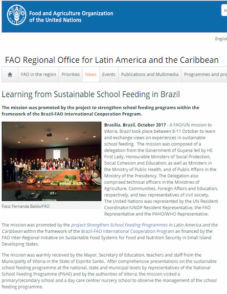 Learning from Sustainable School Feeding in Brazil