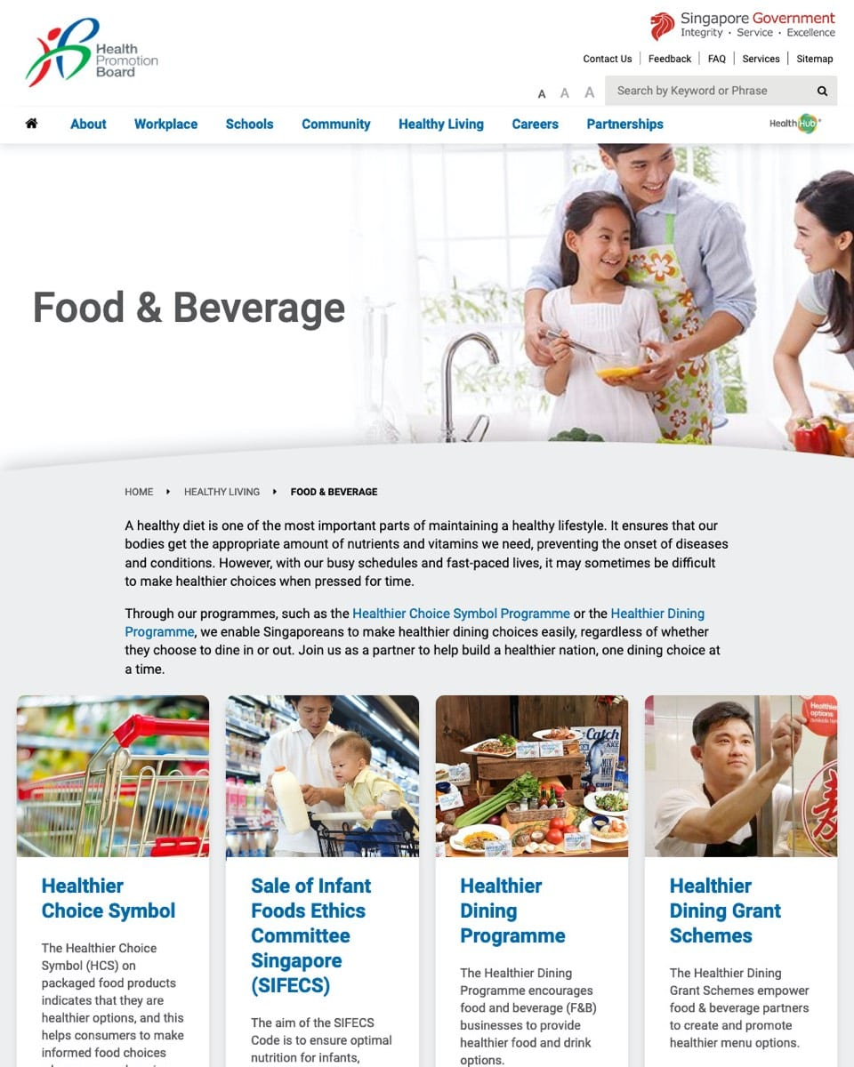 Whole-of-Government (WOG) Healthy Food and Beverage Policy
