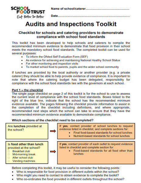 Audits and Inspections Toolkit (2011)