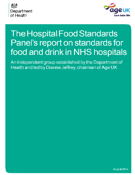 The Hospital Food Standards Panel's report on standards for food and drink in NHS hospitals (2014)