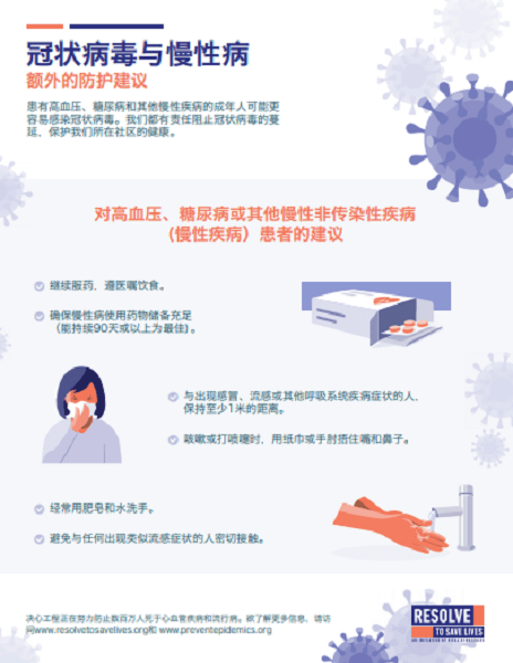 Poster: Guidance on Coronavirus and Chronic Diseases for Patients (Chinese)