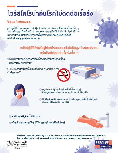 Poster: Guidance on Coronavirus and Chronic Diseases for Patients (Thai)