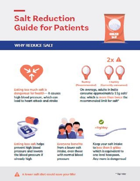 Patient resource: Salt reduction guide for patients in India