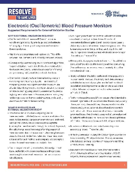 Implementation tool: Validating electronic blood pressure monitors